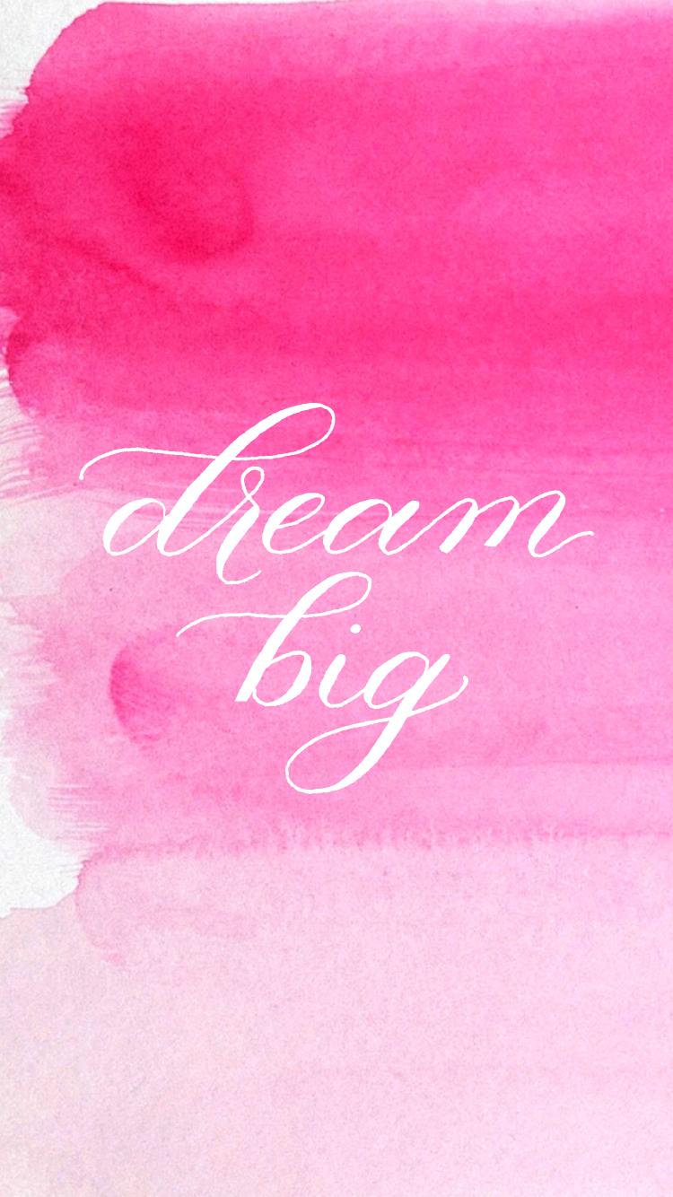 dreambigiphone-pinkombre