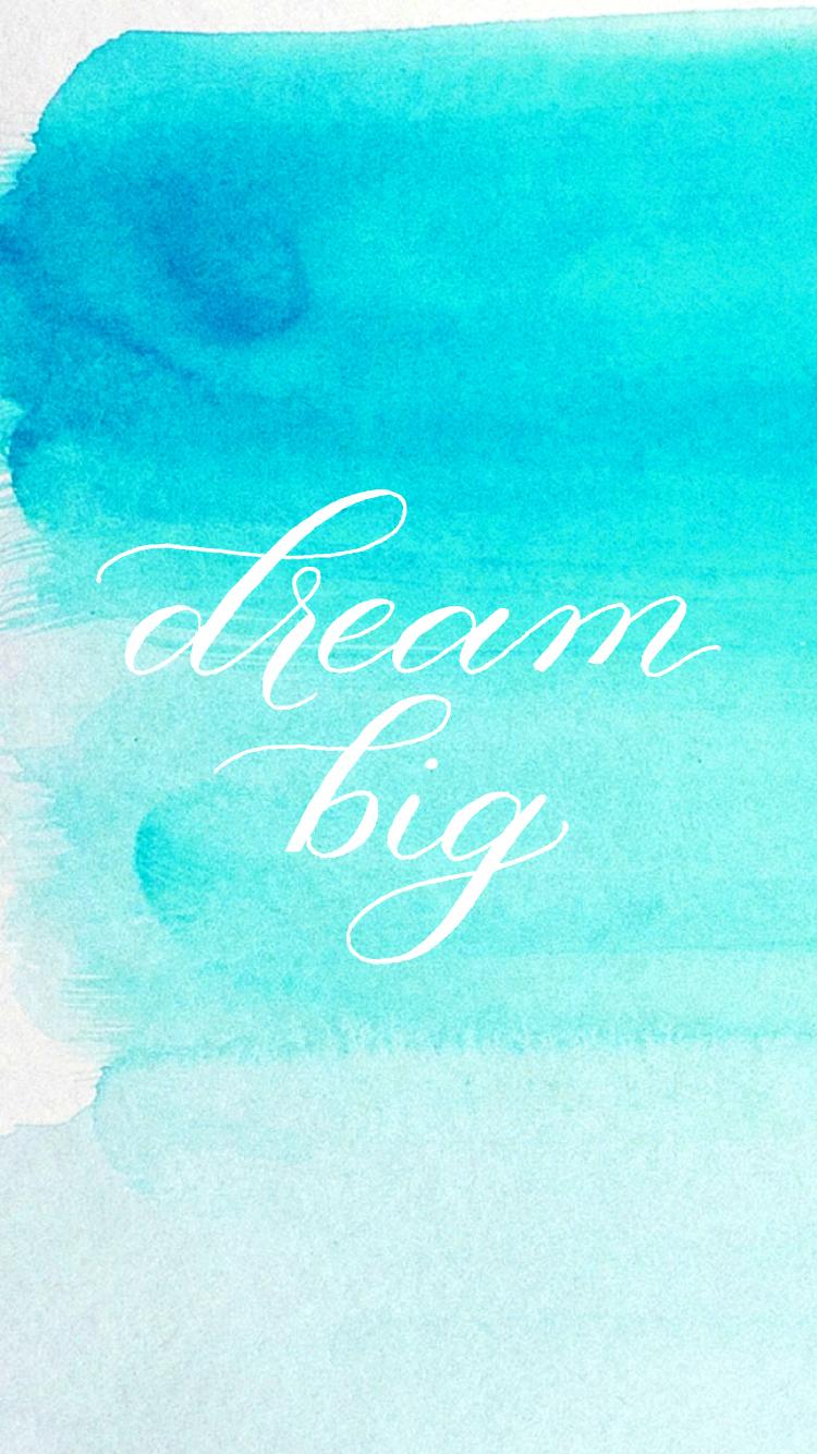 dreambigiphone-blueombre