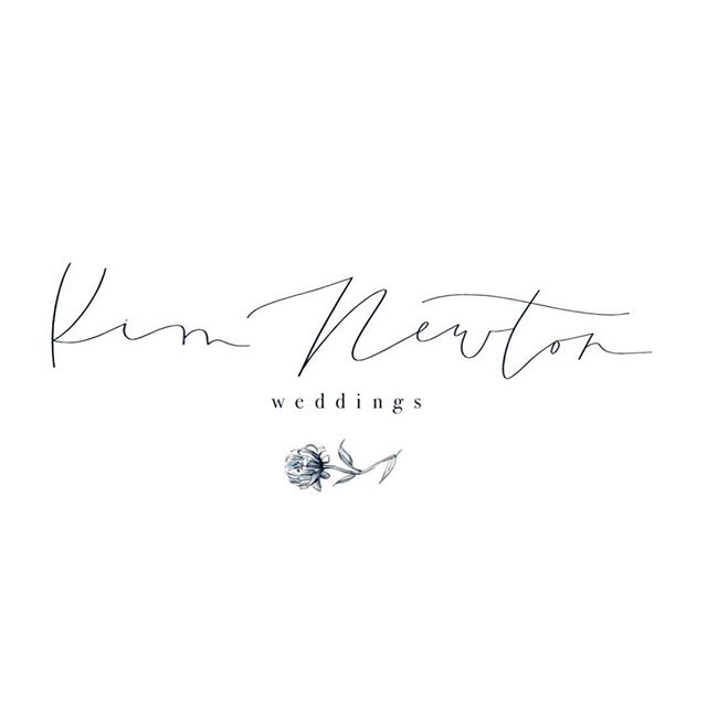 That feeling when you get to create a logo for a stunning brand 😍😍😍 @kimnewtonweddings creates some of the most beautiful weddings and I was thrilled to get to contribute to her rebrand!  #sincerelyamydesigns #sincerelyamylogos