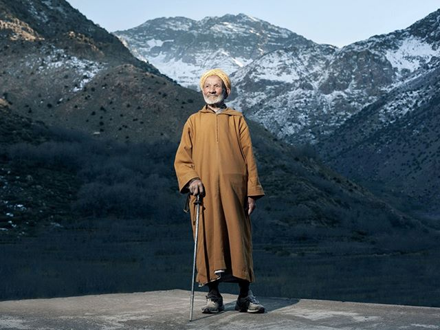 'Guardian of the mountains' Hajj was born in the early 1900s in the Berber mountain village of Arumed. His father was one of the earliest mountain guides for tourists in the Atlas mountains. Hajj was the keeper of the Toubkal refuge for over 50 years; the gateway and safe house to the many high peaks in the heart of the High Atlas. His son now owns and runs the mountain refuge providing great hospitality and an authentic mountain lineage that runs deep into the foundation of the mountain valleys themselves. #portrait #mountains #toubkal #morocco #travel #1923 #atlas #adventure #explore