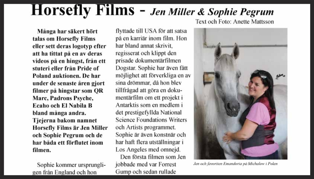 HORSEFLY FILMS: By Anette Mattsson