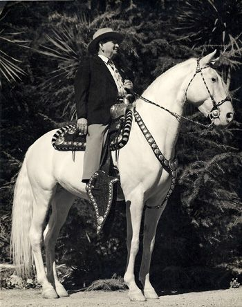 Adolfo Camarillo with the original Camarillo White Horse, Sultan.