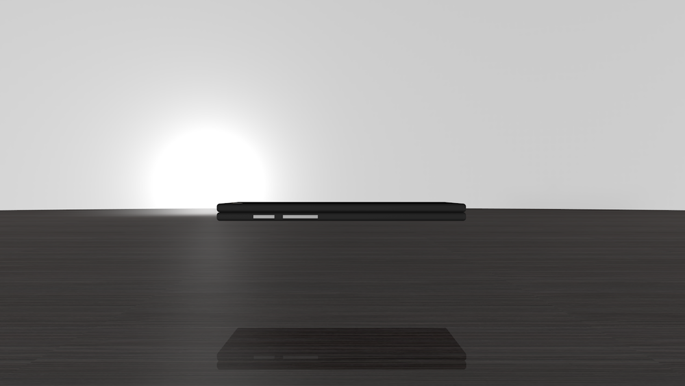 The device is quite thin even when folded.
