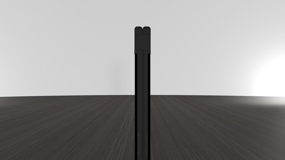 The360 degree hinge can snapin and out of place at 180 degrees. Since the Sim andSD card slots are rarely accessed, they are positioned on the joint side.