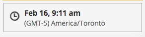 Here Hootsuite gave my home city time as opposed to my actual location (San Francisco). It should set the time zone to where the user is unless they specify differently in settings.