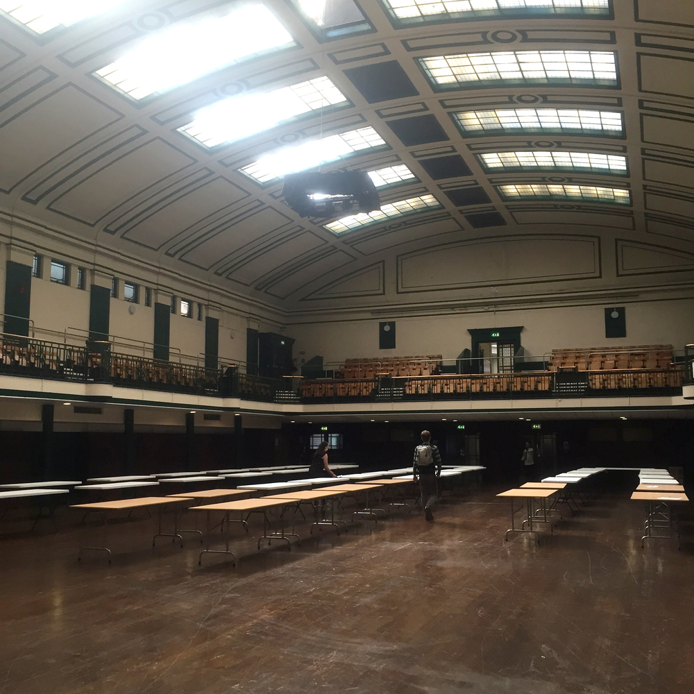 York Hall - pre-vendor setup