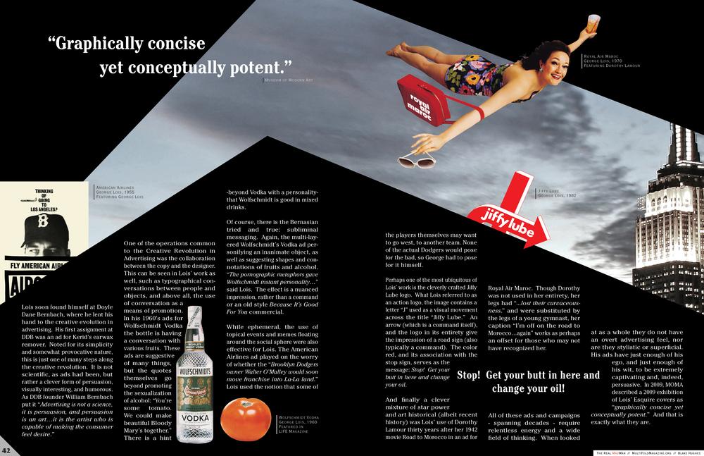 Conceptual Magazine Spread