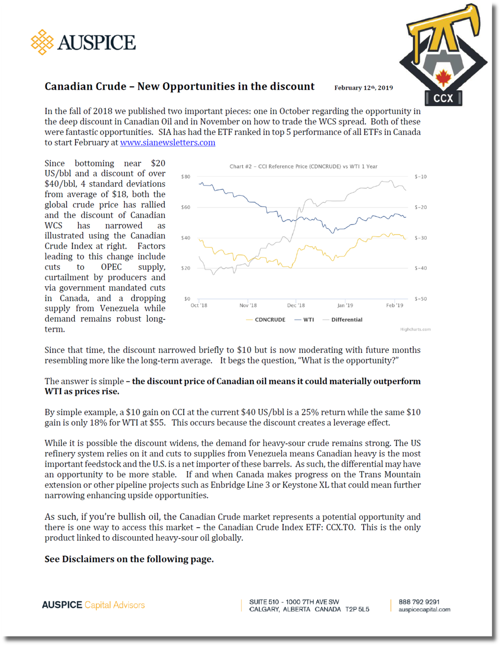 Canadian Crude - Opportunities in the discount