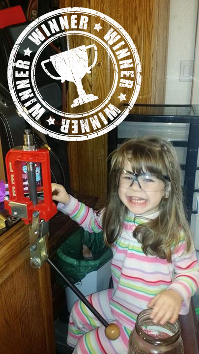 "Damon Keele          Nothing like starting them young. I think my 3 year old enjoys reloading as much as I do. The only problem is she constantly asks if we can reload somewhere that isn't as high as my reload bench. She says she wants it more ""her size."" Looks like the c4m3ron would be the perfect solution to her request. Fingers crossed!"