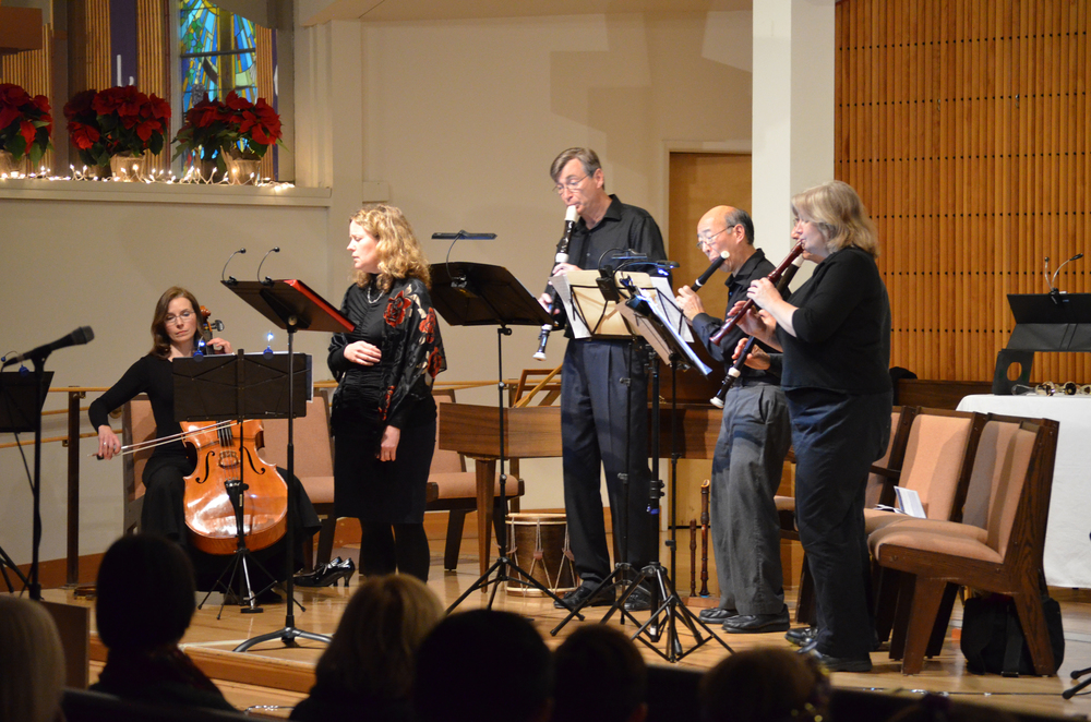 The capstone concert of the early music series features music from the late renaissance, baroque and modern periods.  Kraig Williams, Michèle Kelly & Mike Megas (recorders), Breene Yuen (traverso), Kathleen Thompson (violin), Petra Clark (cello), Libby Kardontchik (harpsichord), Jennifer Randolph & Kathy Warne (sopranos).