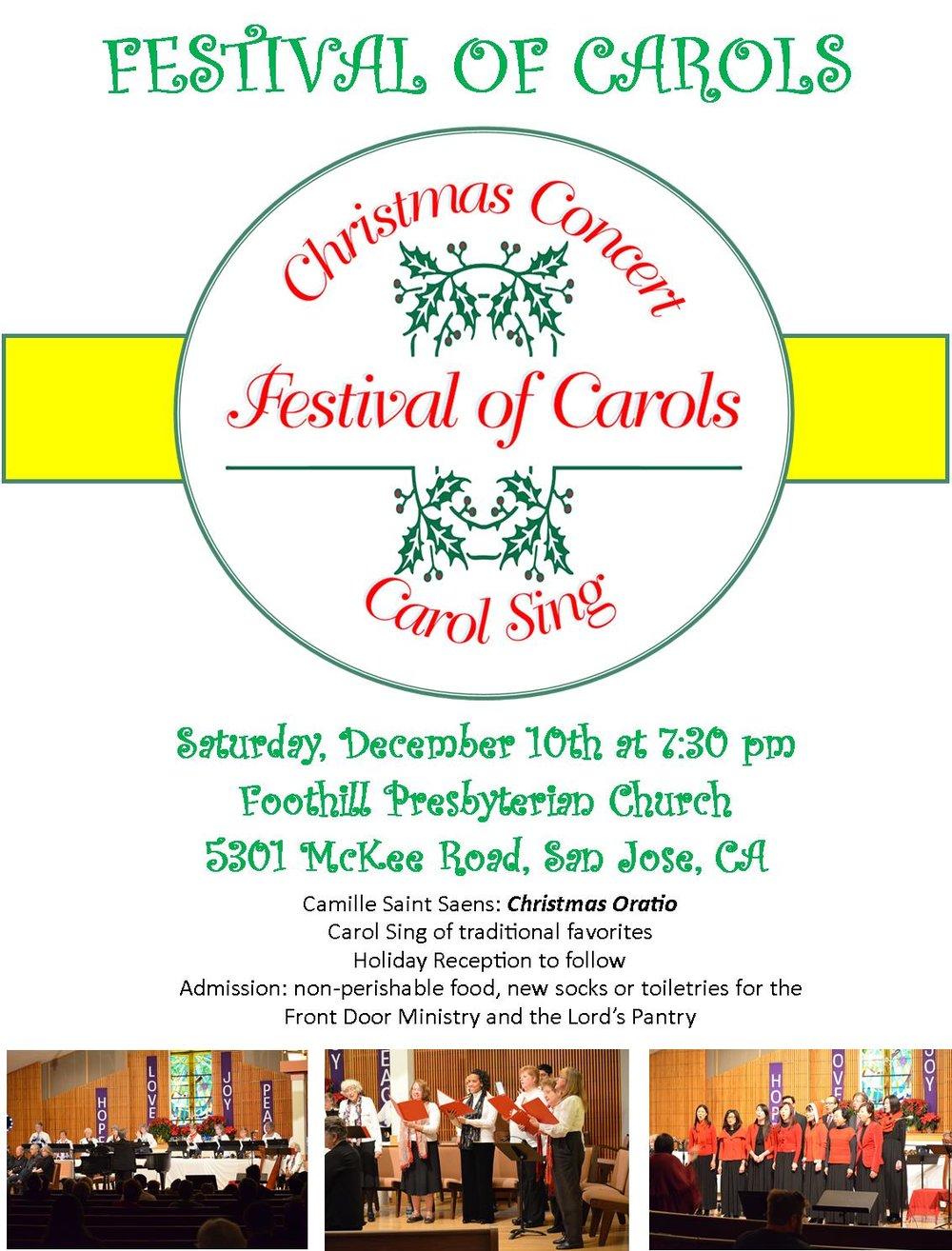 FOC 2016 flyer.jpg  sc 1 st  Foothill Presbyterian Church & Festival of Carols 2016 \u2014 Foothill Presbyterian Church