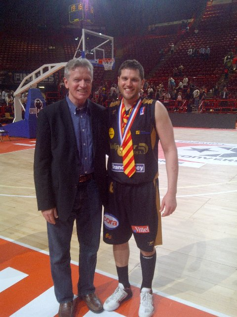 Kenny and his dad after the game.