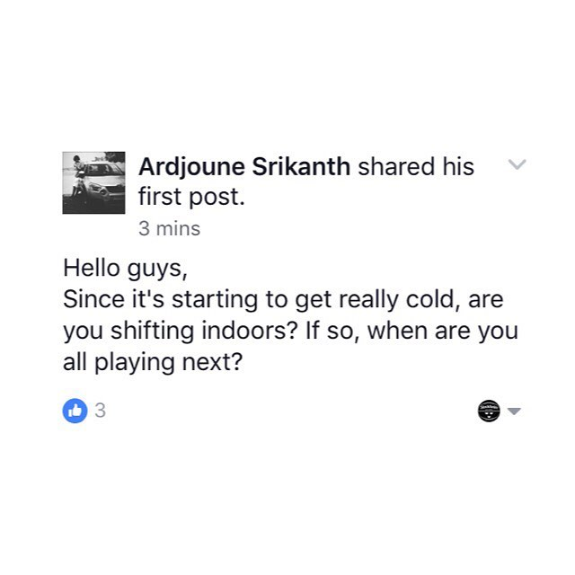 Good question raised by Ardjoune on the Facebook group.  Where are you guys balling now that #winteriscoming ? ❄️🏀❄️