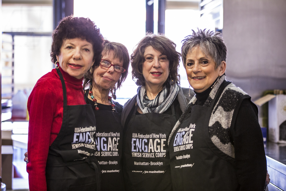 Engage volunteers Ellen Hochstein, Barbara Willinger, Joyce Fleming and Barbara Ornstein.