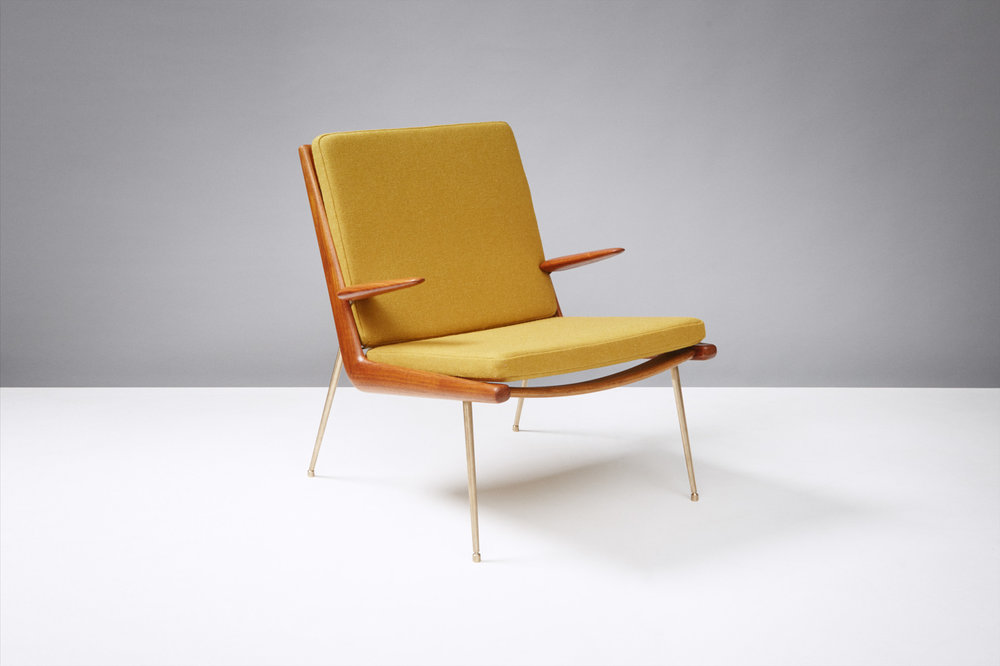 Peter Hvidt  Boomerang Chair, Teak