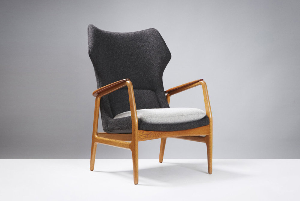 Aksel Bender Maden  Bovenkamp Chair, Teak & Oak