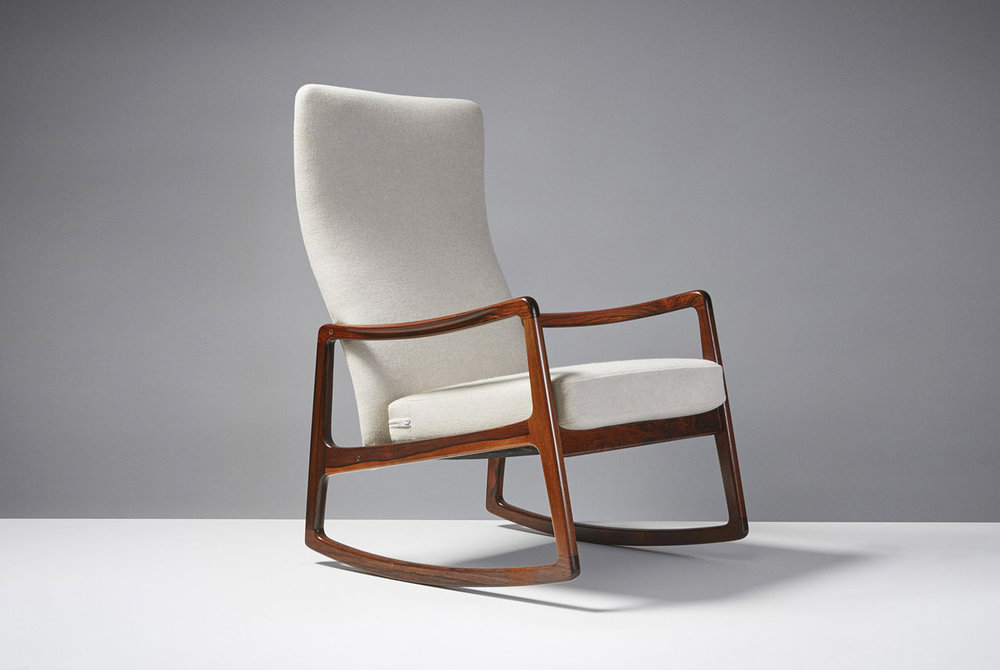 Ole Wanscher  Rocking Chair, Rosewood