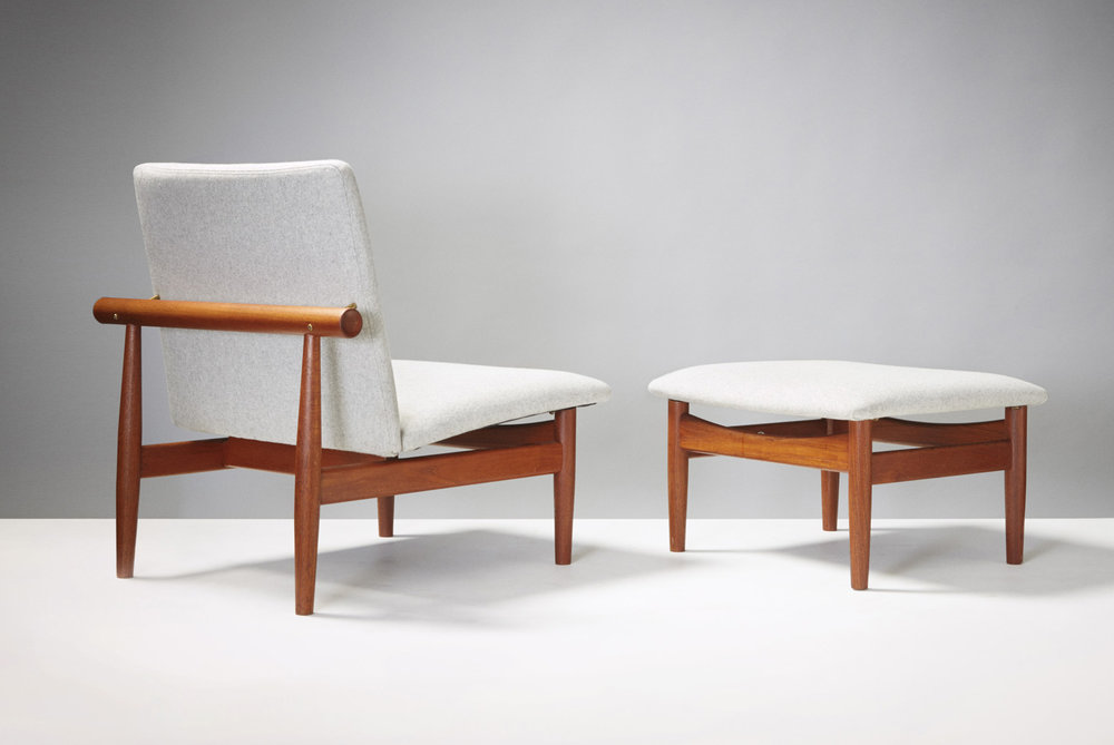 Finn Juhl  Japan Chair & Ottoman, Teak