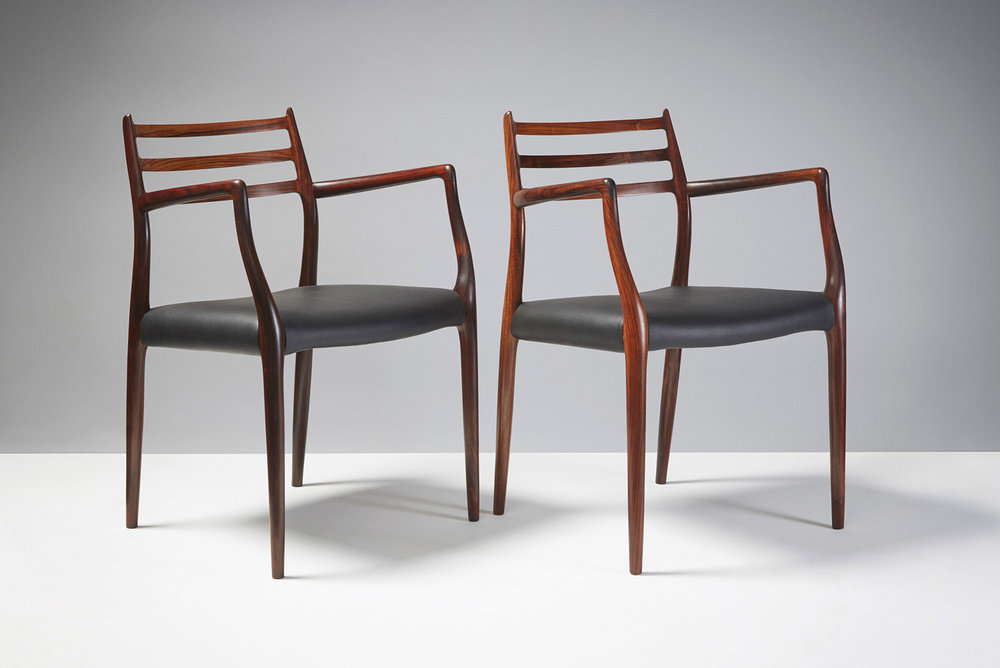 Niels Moller  Model 62 Chairs, Rosewood