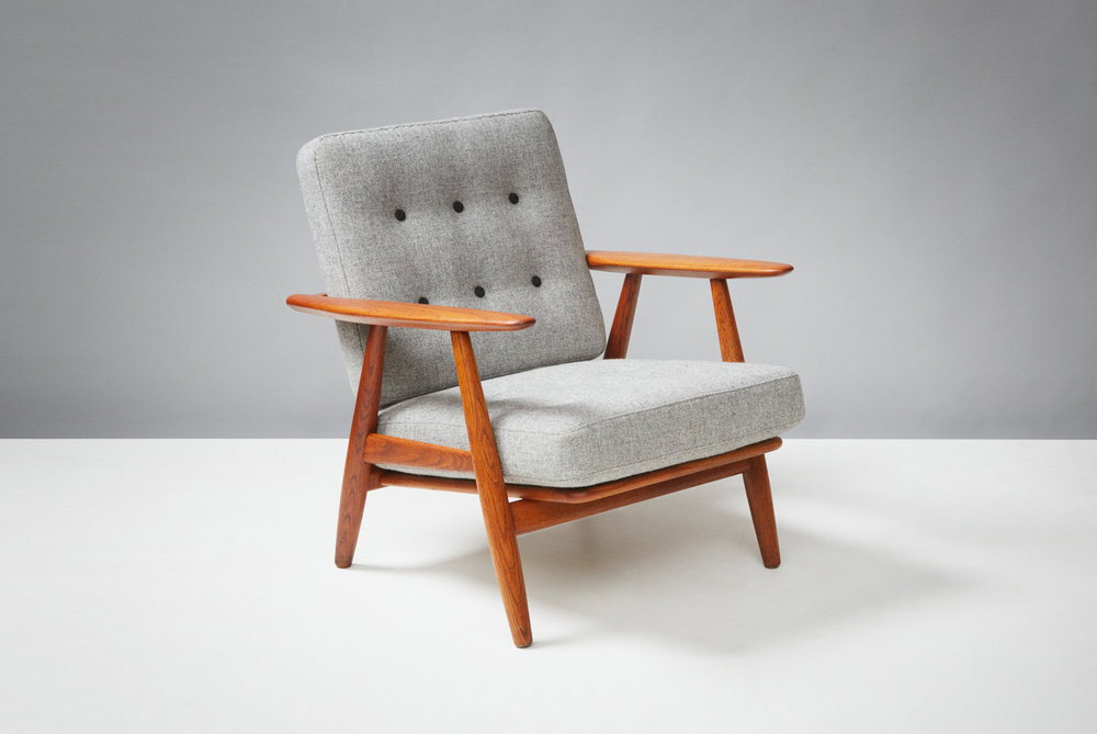 Hans Wegner  GE-240 Cigar Chair, Oak & Teak