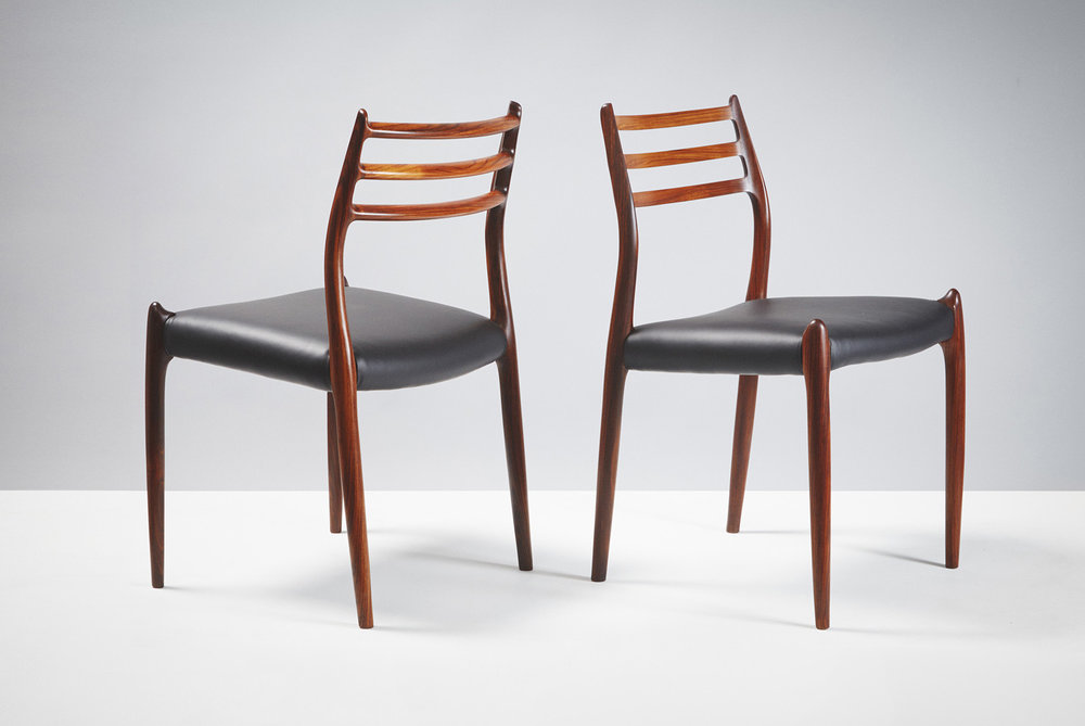Niels Moller  Model 78 Chairs, Rosewood