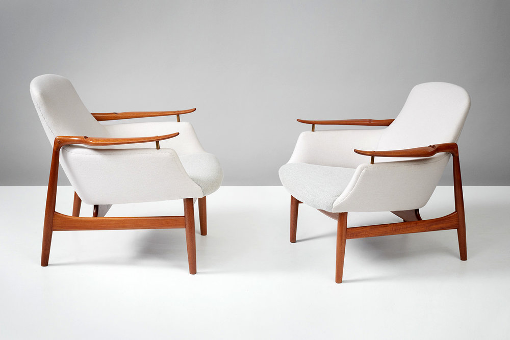 Finn Juhl NV-53 Chairs, Teak
