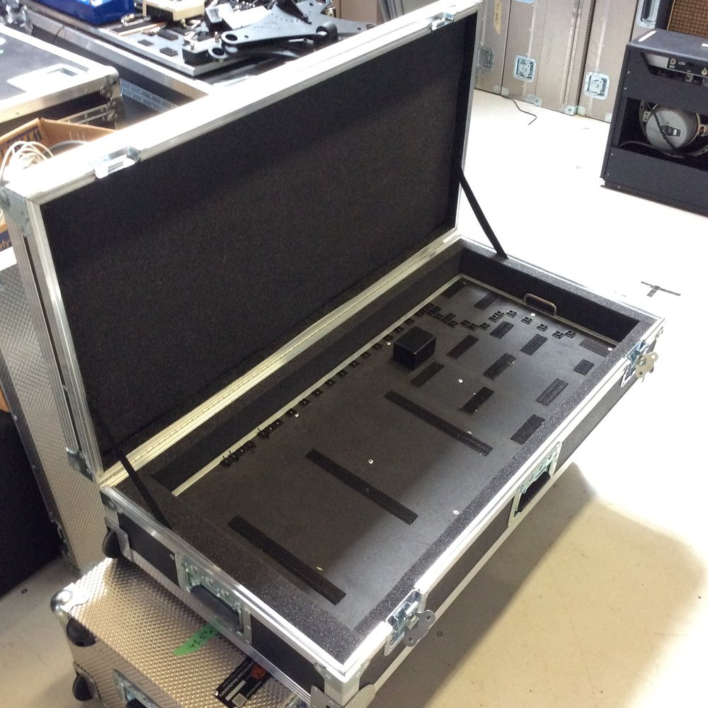 "Pedal Board Flight Case  Make: Clydsedale Custom Case Co.  Dimensions: 41.25"" X 20.25"" X 8.5""  Notes:"