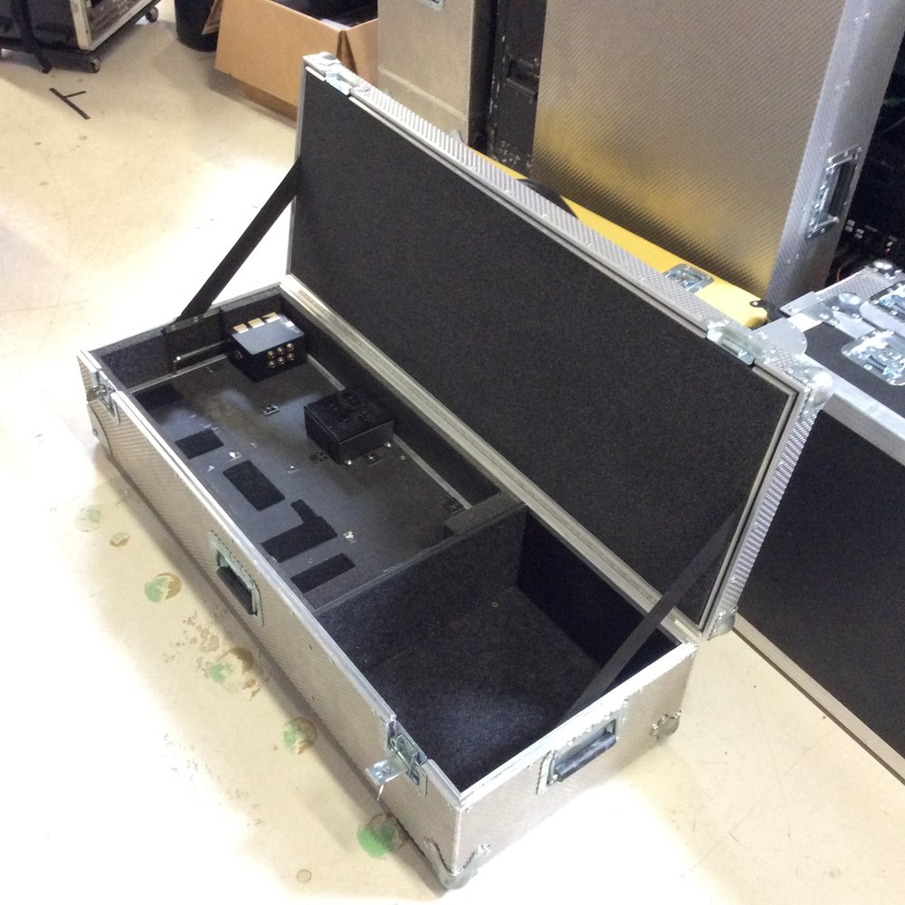 "Pedal Board Flight Case 2  Make: Engineered Case Manufacturers  Dimensions: 43.5"" X 16.5"" X 10""  Notes:"
