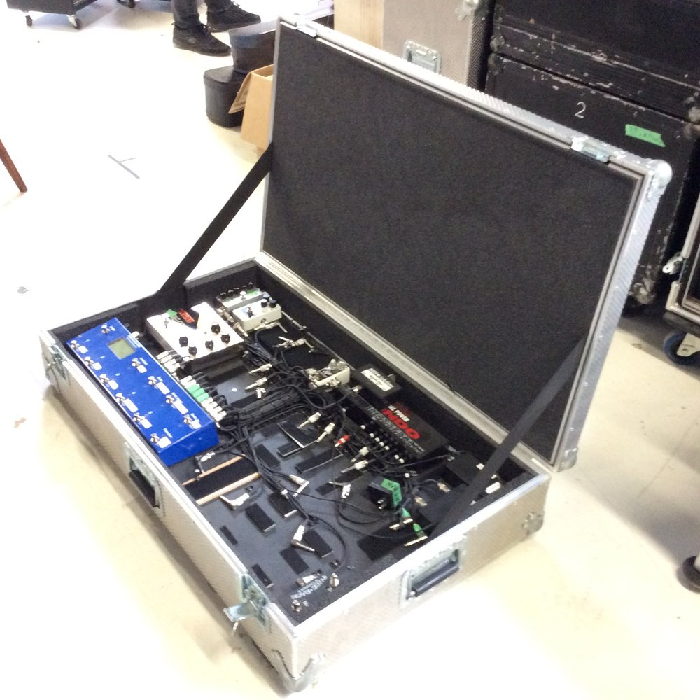 "Pedal Board Flight Case 3  Make: Engineered Case Manufacturers  Dimensions: 41"" X 23.5"" X 7.5""  Notes:"