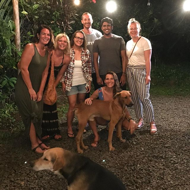 Street dogs are the best!  Yoga Retreat family photo. . . . . .  #yeahyoga #adventure  #retreatlife  #compassion #love #surf #yogaeverydammday #yogateacher