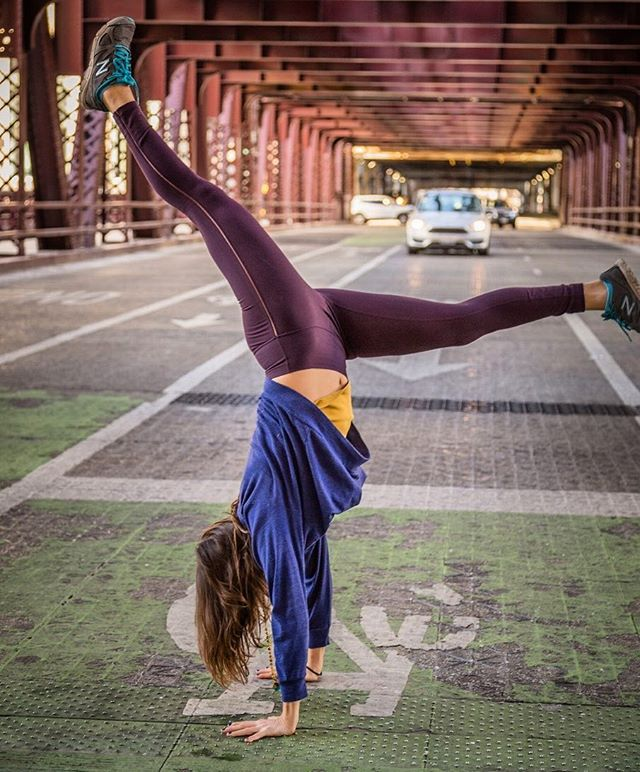 Playing in traffic is stupid.  #yeahyoga 📷 @buckeyeinchi