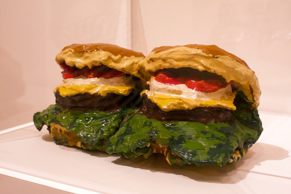 Claes Oldenburg, Two Cheeseburgers, with Everything (Dual Hamburgers), 1962
