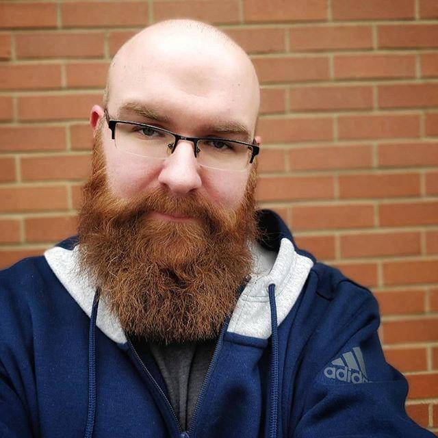 Haircut and beard trim.