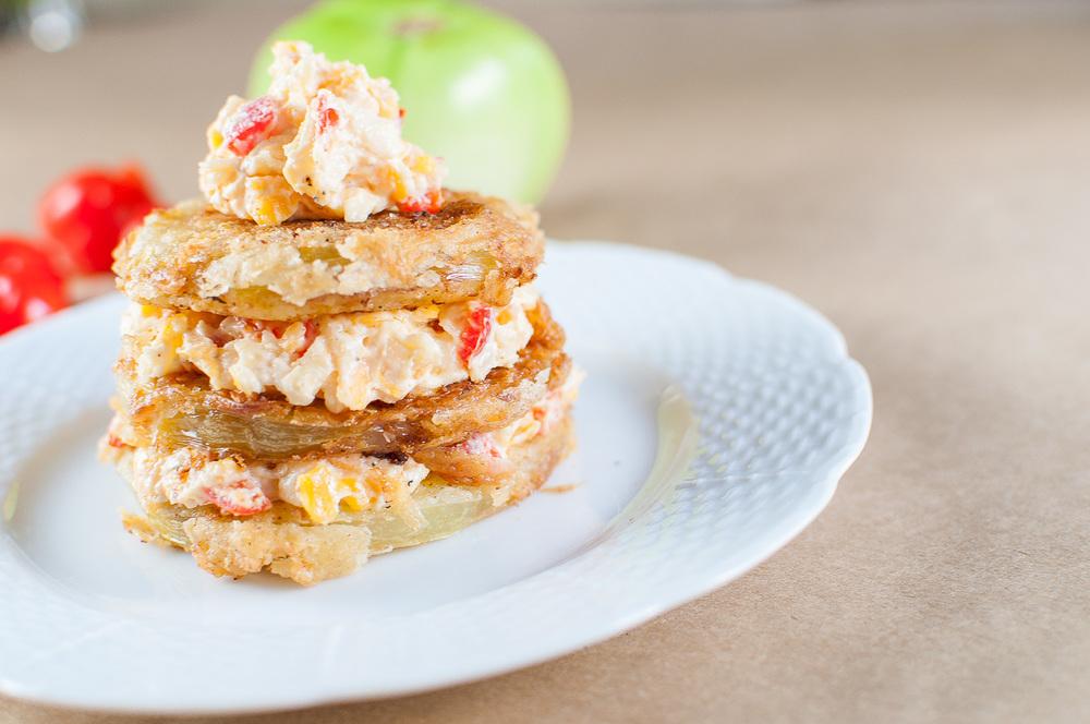 fried green tomato stack | kitchen lush