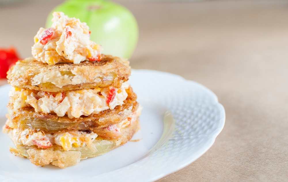 fried green tomato stack | kitchen lush