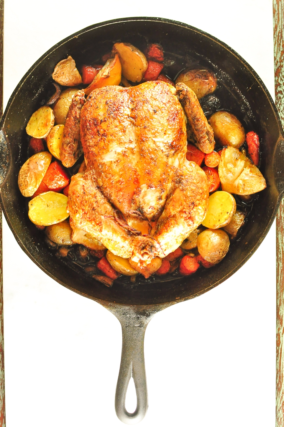 skillet roast chicken | kitchen lush