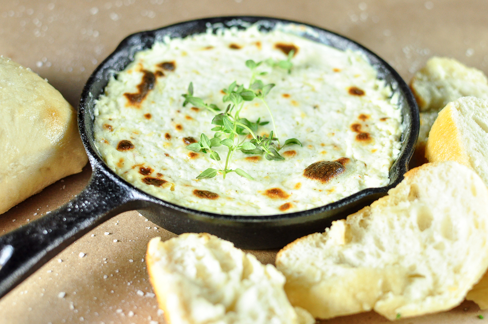 baked truffled ricotta dip | kitchen lush
