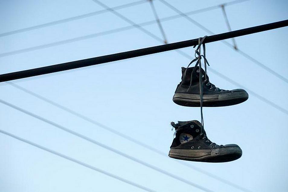 Courtesy Flickr - Gen Gibler - Hanging converse