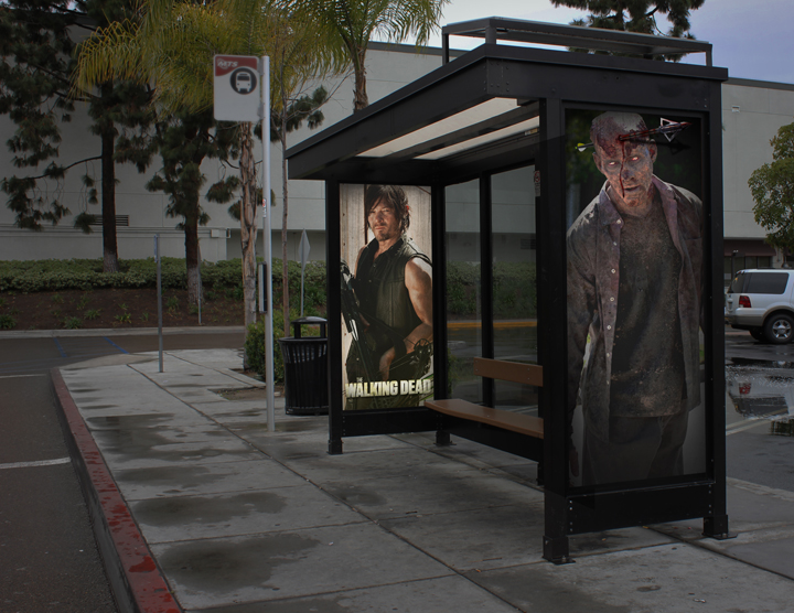 Bus stop from Christian's campaign.