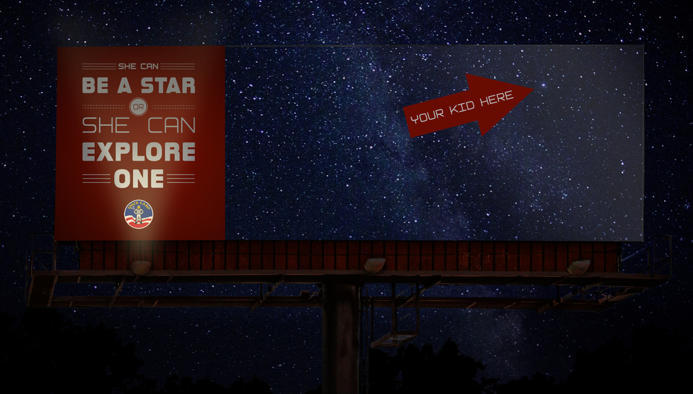 Outdoor Billboards light up the night sky.