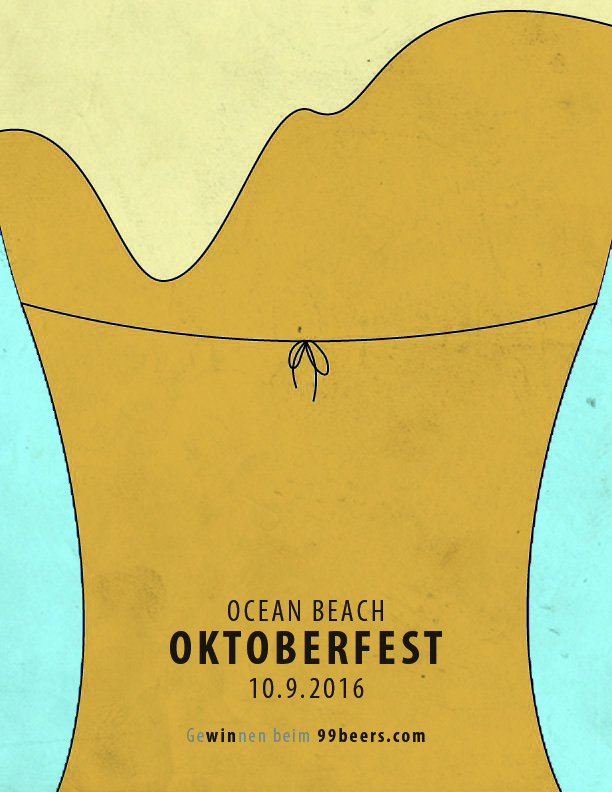 Called Oktoberfest: Bikini, this ad showcases the way San Diego celebrates its beer culture