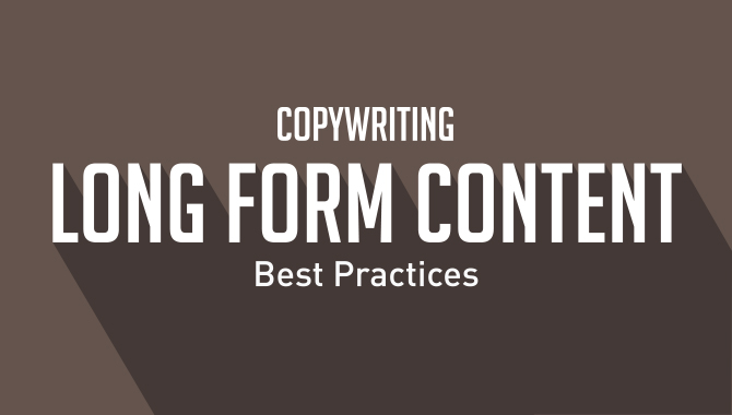 Long Form Content Copywriting