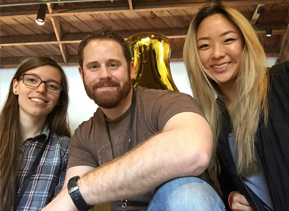 Portfolio Studio students Brooke Hugus, Zach Russell, and Flora Kim at the 2016 Creative Bootcamp in Los Angeles