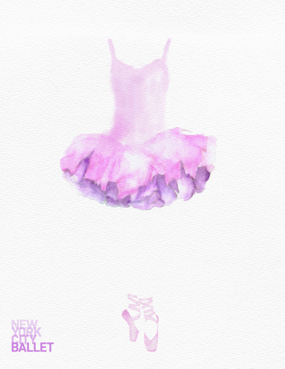 Poster for New York City Ballet by Kaitlin Schupp. Can you see the skyline?