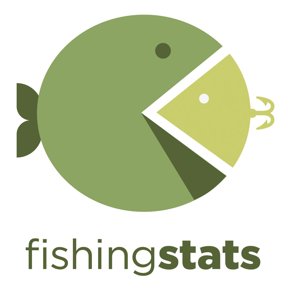 Logo by Tani Yasso for company that provides stats to fisherman. Created in a Branding/Logo Design course