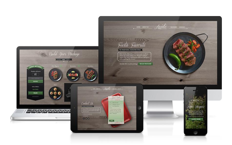 Alvaro Camacho Acento Catering complete design