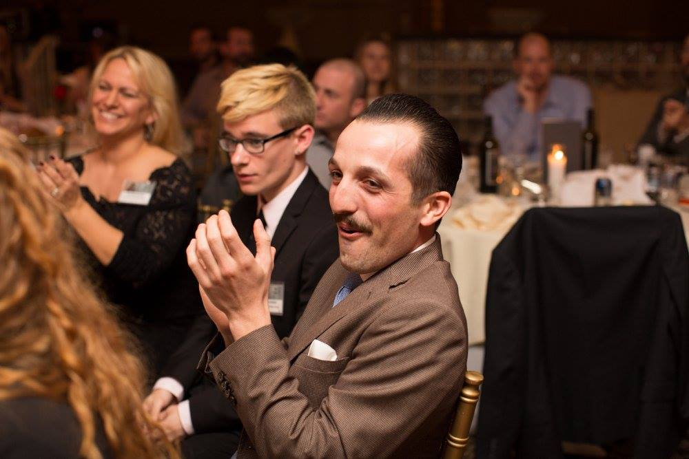 David, front and center, at the ADDY awards in San Diego.  (Photo by Brogen Jessup)