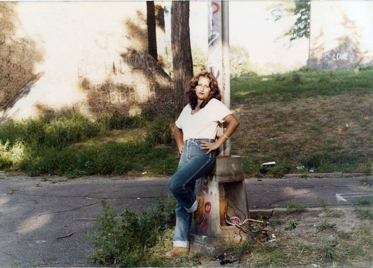 Anthoula Lelekidis's mother, Betty, in Astoria Park in the late 1970s