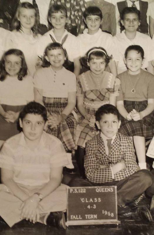 Brenda Balin in her P.S.122 class picture, 1958. She is in the second row, second from the left
