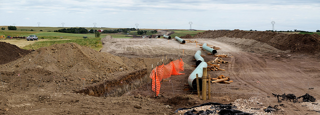 The Dakota Access Pipeline under construction (Photo:  Lars Plougmann )